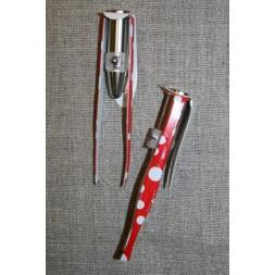Pincet 8½ cm. med LED lys, rød med hvide prikker-20