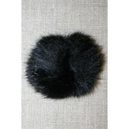 Pels-pompon af kanin, 6 cm. sort-20
