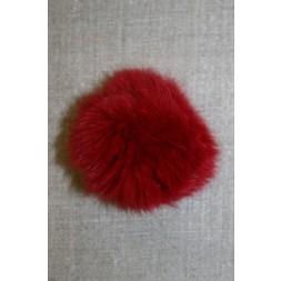 Pels-pompon af kanin, 6 cm. rød-20