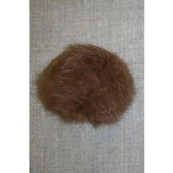 Pels-pompon af kanin, 6 cm. brun-20