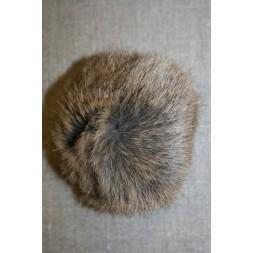 Pels-pompon af kanin, 100 mm. natur-20