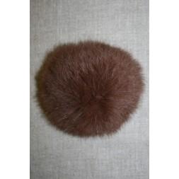 Pels-pompon af kanin, 100 mm. brun-20