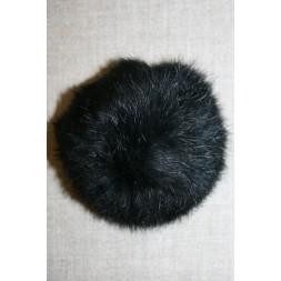 Pels-pompon af kanin, 100 mm. sort-20