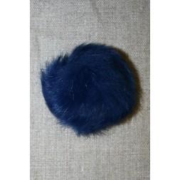 Pels-pompon af kanin, 6 cm. blå-20