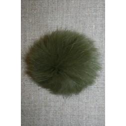Pels-pompon af kanin, 6 cm. army-20