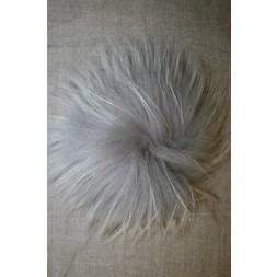 Pels-pompon af vaskebjørn, lysegrå 14 cm.-20
