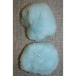 Pels-pompon af kanin, 6 cm. aqua-20