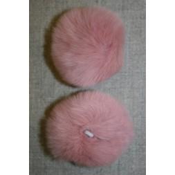 Pels-pompon af kanin, 6 cm. gl.rosa-20