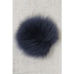Pels-pompon af ræv, marine 10 cm.-20