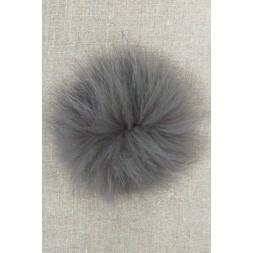 Pels-pompon af ræv, mørk grå 10 cm.-20