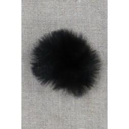 Pels-pompon i akryl i sort, 5 cm.-20