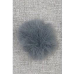 Pels-pompon i akryl i grå, 5 cm.-20