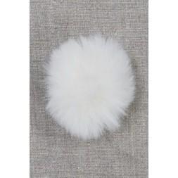 Pels-pompon i akryl i offwhite, 5 cm.-20
