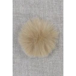 Pels-pompon i akryl i beige, 5 cm.-20