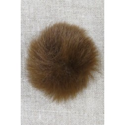 Pels-pompon i akryl i brun, 5 cm.-20