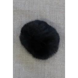 Pels-pompon i akryl i sort, 8 cm.-20