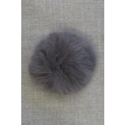 Pels-pompon i akryl i grå, 8 cm.-20