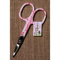 Lille sysaks/broderisaks i hvid lyserød pink 9½ cm.-20