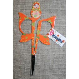 Lille sysaks m/babuska 11 cm., orange-20