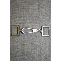 Lukning m/karabinhage, gl.sølv-20