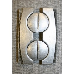 60 mm. spænde til elastikbælter, gl.sølv-20