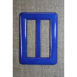 Plast spænde aflang 40 mm. koboltblå-20