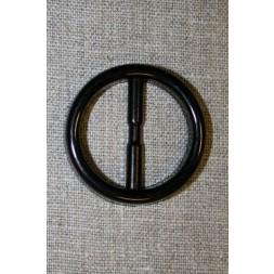 Plast spænde rundt 30 mm. sort-20