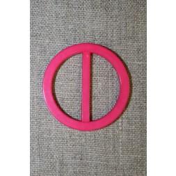 Plast spænde rundt 30 mm. pink-20