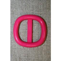 Plast spænde m/afrundede hjørner 25 mm. pink-20