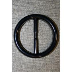 Plast spænde rundt 40 mm. sort-20