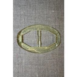 Plast spænde oval klar 20 mm. lysegul/lime-20