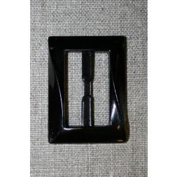 Plast spænde aflang 30 mm. sort-20