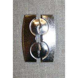 50 mm. spænde til elastikbælter, sølv-20