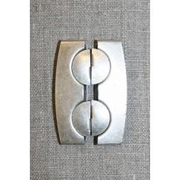50 mm. spænde til elastikbælter, gl.sølv-20