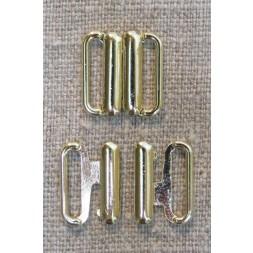 Bikini-lukning i guld 12 mm.-20