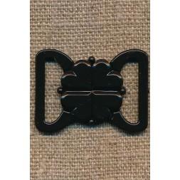 Bikini-lukning i sort plast 20 mm.-20