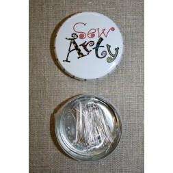 Click-clack-æske m/knappenåle, hvid Sew Arty-20