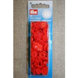 Plast-trykknap rund, orange-rød-20