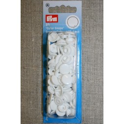 Plast-trykknap rund, hvid-20