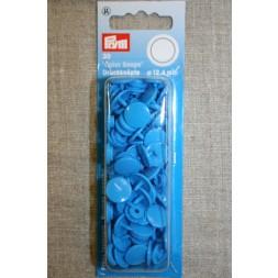 Plast-trykknap rund, turkis-blå-20