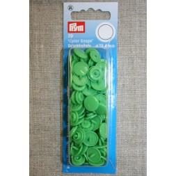 Plast-trykknap rund, lysegrøn-20
