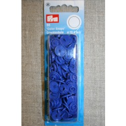 Plast-trykknap rund, koboltblå-20