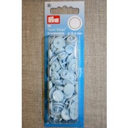 Plast-trykknap rund, baby lyseblå-20