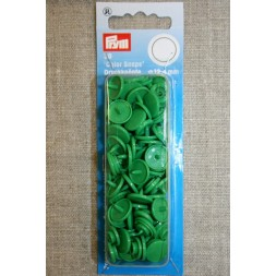 Plast-trykknap rund, græsgrøn-20