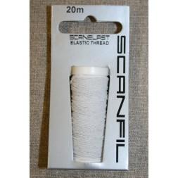 Elastik-tråd 20 meter, hvid-20