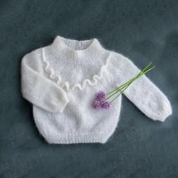 Uldklumpers strikkeopskrift Flæse sweater str. 1-12 år-20