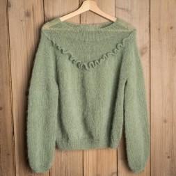 Uldklumpers strikkeopskrift Flæse sweater Mysize-20