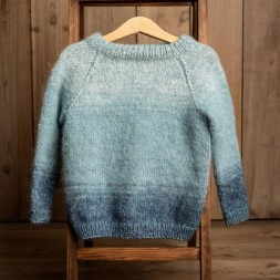 Uldklumpers strikkeopskrift Luxuxsweater Str. 1-12 år-20