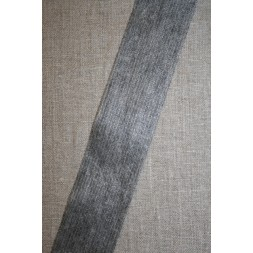 Vlies-bånd/vilene m/tråd-forstærker, grå 45 mm.-20
