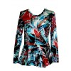 Peplun bluse i mønstret viscose/lycra-03